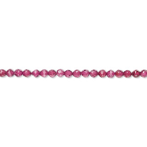 bead, hydrabadi garnet (dyed), 2-2.5mm faceted round, b grade, mohs hardness 7 to 7-1/2. sold per 16-inch strand.