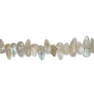 bead, labradorite (natural), 5x4mm-10x5mm hand-cut top- and center-drilled teardrop, b grade, mohs hardness 6 to 6-1/2. sold per 13-inch strand.