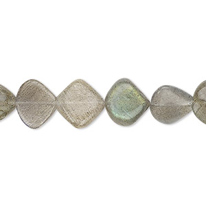 bead, labradorite (natural), 9-11mm hand-cut flat teardrop, b grade, mohs hardness 6 to 6-1/2. sold per 13-inch strand.