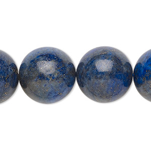 bead, lapis lazuli (dyed), 15-16mm round, c- grade, mohs hardness 5 to 6. sold per 15-inch strand.