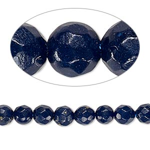 bead, lapis lazuli (dyed), 5-6mm faceted round, c grade, mohs hardness 5 to 6. sold per 15-inch strand.