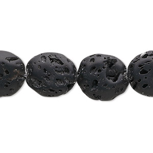 bead, lava rock (waxed), 15x13mm flat oval, b grade, mohs hardness 3 to 3-1/2. sold per 16-inch strand.