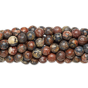 bead, leopardskin jasper (natural), 4mm round, c grade, mohs hardness 6-1/2 to 7. sold per pkg of (10) 16-inch strands.