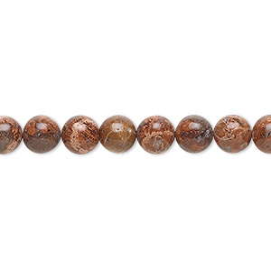 bead, leopardskin jasper (natural), 6mm round, b grade, mohs hardness 6-1/2 to 7. sold per 16-inch strand.