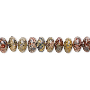 bead, leopardskin jasper (natural), 8x4mm rondelle, b grade, mohs hardness 6-1/2 to 7. sold per 16-inch strand.