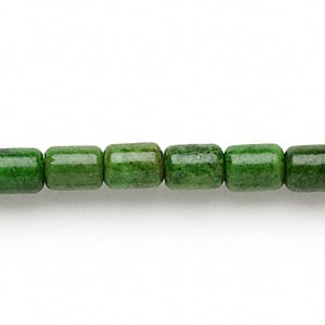 bead, magnesite (dyed / stabilized), apple green, 8x6mm capsule, c grade, mohs hardness 3-1/2 to 4. sold per 16-inch strand.