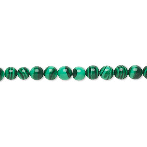 bead, malachite (imitation), dark and light green, 4mm round. sold per 16-inch strand.