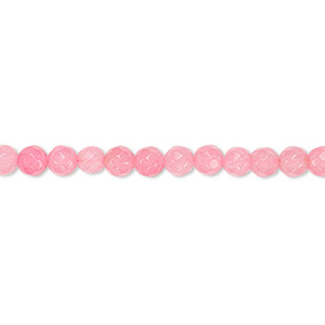bead, malaysia jade (dyed), dark pink, 4-5mm faceted round, b grade, mohs hardness 7. sold per 15-inch strand.