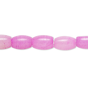 bead, malaysia jade (dyed), fuchsia, 10x7mm-11x8mm oval, d grade, mohs hardness 7. sold per 15-inch strand.