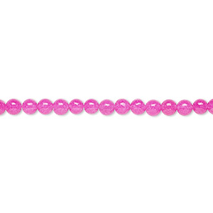 bead, malaysia jade (dyed), fuchsia, 3mm round, b grade, mohs hardness 7. sold per 16-inch strand.