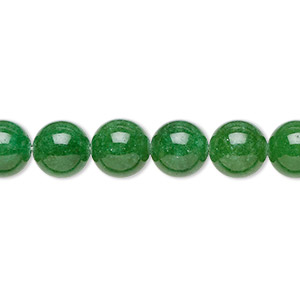bead, malaysia jade (dyed), green, 8mm round, b grade, mohs hardness 7. sold per 16-inch strand.