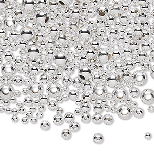 sterling beads wholesale round anti tarnish silver