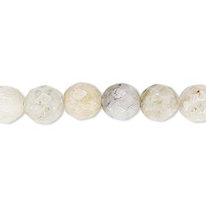 bead, moss marble (natural), light, 7-8mm faceted round, c- grade, mohs hardness 3. sold per 15-inch strand.