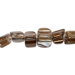 bead, mother-of-pearl shell (dyed), dark gold, mini to small nugget, mohs hardness 3-1/2. sold per 15-inch strand.