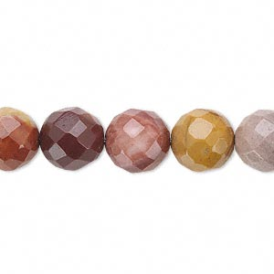 bead, moukaite jasper (natural), 10mm faceted round, b grade, mohs hardness 6-1/2 to 7. sold per 16-inch strand.