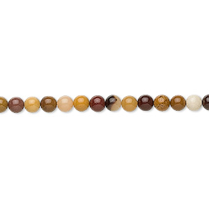 bead, moukaite jasper (natural), 4mm round, b grade, mohs hardness 6-1/2 to 7. sold per 16-inch strand.