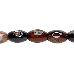 bead, multi-agate (dyed / heated), 11x8mm-13x9mm oval, d grade, mohs hardness 6-1/2 to 7. sold per 15-inch strand.