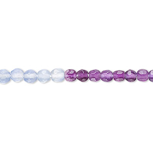 bead, multi-fluorite (natural), 4mm faceted round, a- grade, mohs hardness 4. sold per 16-inch strand.