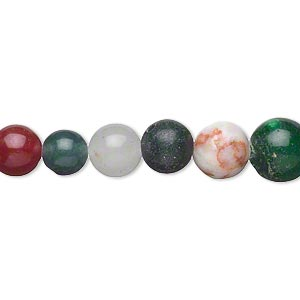bead, multi-gemstone (natural / dyed / man-made) and glass, multicolored, 8-9mm round, d grade. sold per 15-inch strand.