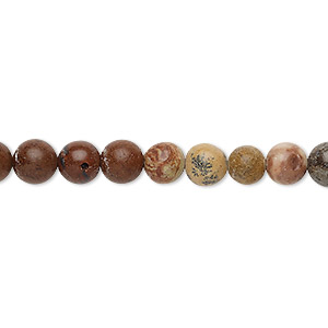 bead, multi-gemstone (natural), 6-7mm round, c- grade, mohs hardness 3 to 7. sold per 15-inch strand.