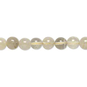 bead, multi-quartz (natural), 6-7mm hand-cut round, c- grade, mohs hardness 7. sold per 14-inch strand.