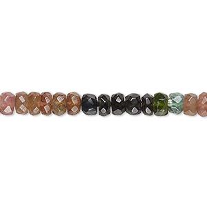 1 Strand Best Quality Multi Tourmaline Roundelle Smooth Beads 13.5 Inches 5mm Multi Tourmaline Gemstone Rondelles GB0428