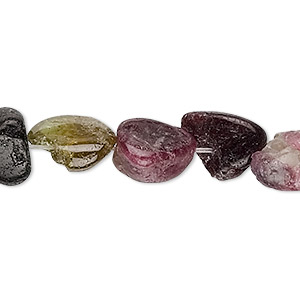 bead, multi-tourmaline (natural), mini to small nugget, mohs hardness 7 to 7-1/2. sold per 15-inch strand.
