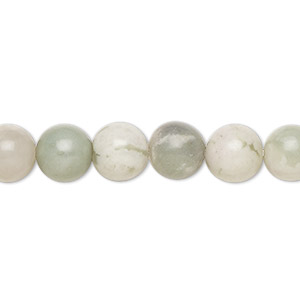 bead, peace jade (natural), 8mm round, b grade, mohs hardness 6 to 6-1/2. sold per 16-inch strand.