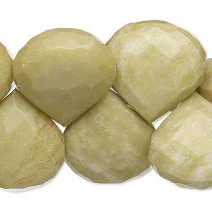 bead, peridot jasper (natural), 20x19mm-23x22mm hand-cut top-drilled faceted teardrop, b grade, mohs hardness 2-1/2 to 6. sold per 8-inch strand.