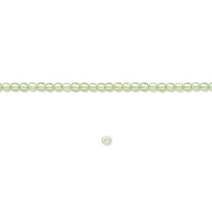 bead, peridot (natural), 2mm round, b grade, mohs hardness 6-1/2 to 7. sold per 16-inch strand.