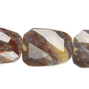 bead, pietersite (natural), 30x22mm faceted twisted flat rectangle, b grade. sold per 16-inch strand.