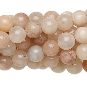 bead, pink aventurine (natural), 8mm round, c grade, mohs hardness 7. sold per pkg of (10) 16-inch strands.