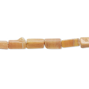 bead, pink aventurine (natural), 8x4mm-13x5mm hand-cut square tube, d grade, mohs hardness 7. sold per 13-inch strand.