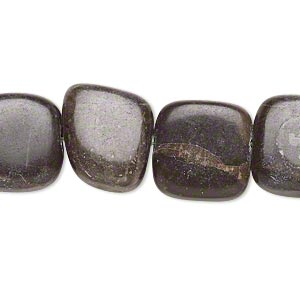 bead, portoro marble (natural), 14x14mm-15x15mm rounded flat square, c- grade, mohs hardness 3. sold per 15-inch strand.