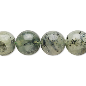 bead, prehnite (natural), 11-13mm round, d grade, mohs hardness 6 to 6-1/2. sold per 15-inch strand.