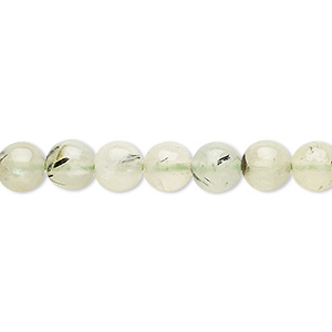 bead, prehnite (natural), 6-8mm round, b- grade, mohs hardness 6 to 6-1/2. sold per 15-inch strand.