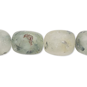 bead, prehnite (natural), medium rough nugget, mohs hardness 6 to 6-1/2. sold per 16-inch strand.