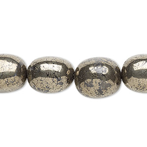 bead, pyrite (stabilized), small nugget, mohs hardness 6 to 6-1/2. sold per 16-inch strand.