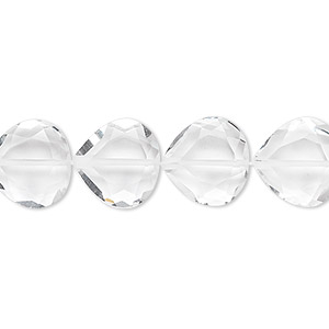 bead, quartz crystal (natural), 12x12mm hand-cut faceted teardrop, b grade, mohs hardness 7. sold per pkg of 10.
