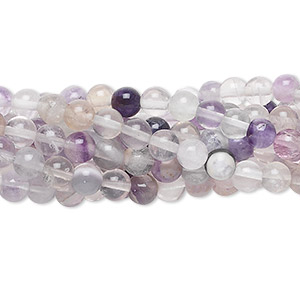 bead, rainbow fluorite (natural), 4mm round, c grade, mohs hardness 4. sold per pkg of (10) 16-inch strands.