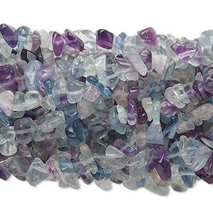 bead, rainbow fluorite (natural), medium chip with 0.5-1.5mm hole, mohs hardness 4. sold per pkg of (10) 34-inch strands.