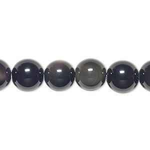bead, rainbow obsidian (natural), 10mm round, b grade, mohs hardness 5 to 5-1/2. sold per 16-inch strand.