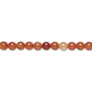 bead, red agate (dyed / heated), 8mm round, b grade, mohs hardness 6-1/2 to 7. sold per 16-inch strand.