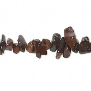 bead, red tigereye (heated), medium chip, mohs hardness 7. sold per 36-inch strand.