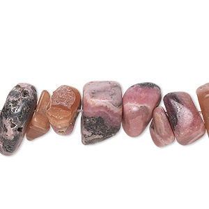 bead, rhodochrosite (natural), extra-large chip, mohs hardness 3-1/2 to 4-1/2. sold per 16-inch strand.