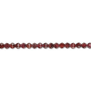 bead, rhodolite garnet (natural), 2mm-3x2mm hand-cut faceted rondelle, b grade, mohs hardness 7 to 7-1/2. sold per 13-inch strand.