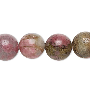 bead, rhodonite (natural), 14mm, d grade, mohs hardness 5-1/2 to 6-1/2. sold per 15-inch strand.