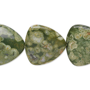 bead, rhyolite (natural), 20x20x20mm triangle, b grade, mohs hardness 6 to 6-1/2. sold per 16-inch strand.