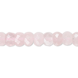 3.5mm-4mm Beads 5 Strands Rose Quartz Rondelles Faceted Beads Semi Precious Beads Full 13 Inches TR192