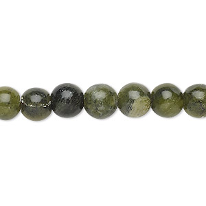 bead, saguaro jasper (natural), 7-8mm round, c grade, mohs hardness 6-1/2 to 7. sold per 15-inch strand.